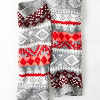 AEO Women's Fair Isle Legwarmer (Red)