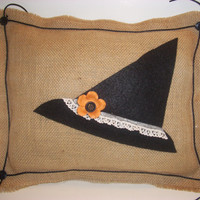 HALLOWEEN PILLOW  Witch's Hat and a Little Class