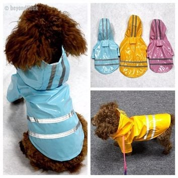 100% Waterproof Dog Raincoat with Reflective Stripes