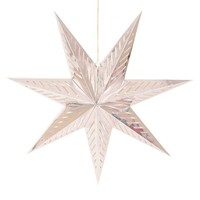 "Holiday Hanging Star Large 30"" Silver"
