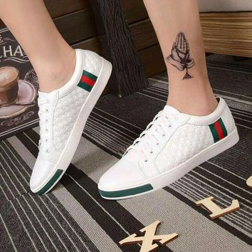 Gucci Man or Woman Fashion Edgy Strappy Casual Shoes