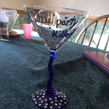Great Gatsby A Little Party Never Killed Nobody Martini Glass