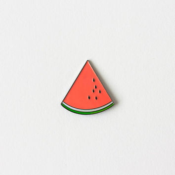 Watermellon Wedge Enamel Pin