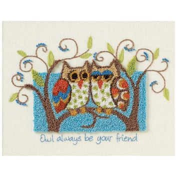 Owl Always Be Your Friend Punch Needle Kit-10X8