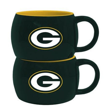 NFL Green Bay Packers Stack Relief Mug, 14 oz., Green