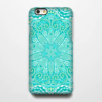 Teal Floral iPhone iPhone 6 6 Plus 6 5S 5C 5 4 Protective Case #175