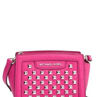 MICHAEL Michael Kors 'Mini Selma' Studded Saffiano Leather Crossbody Bag