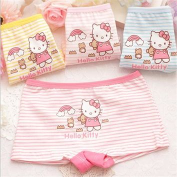 5pcs/lot Cute Pants For Girls Hello Kitty Cotton Child's Underwear Boxer Cotton Children's Pants Kids Shorts For Girls Clothing
