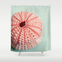 sea urchins series no 1 Shower Curtain by Erin Johnson