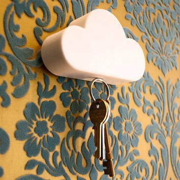 ILH Home Convenient key holder Creative Home Shelveskey Cloud Shape Magnetic Magnets Key Holder key rack wall shelf New