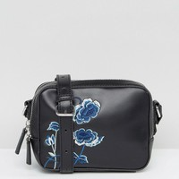 French Connection Embroidered Camera Bag at asos.com