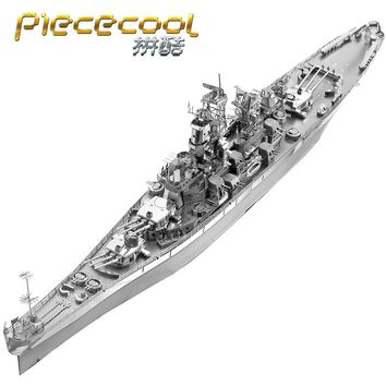 USS MISSOURI (BB-63) P096-S Metal Model DIY laser cutting Jigsaw puzzle model Piececool 3D Nano Puzzle Toys for adult Gift