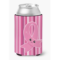 Breast Cancer Awareness Ribbon Face Can or Bottle Hugger BB6978CC