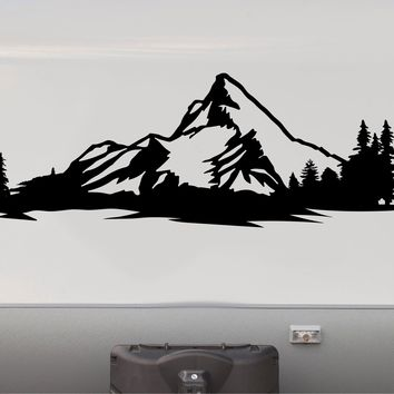 Rocky Mountains Camper Motorhome Decal Scene Trailer RV Stickers Replacement