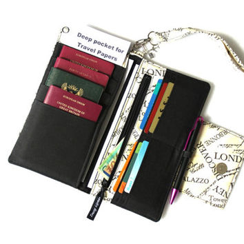 Family Passport Holder - Family Travel Wallet - Travel Document Holder - travel organizer - travel wallet - travel gift Multi passport cover