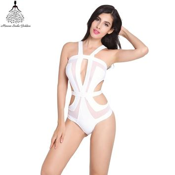 Swimwear women Bandage One Piece Swimsuit bathing suit Monokini Vintage swim suit Trikini swimwear female Swimwear bathing suit
