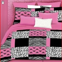 Veratex 457173 Pink Skulls Bed-In-A-Bag Micro-Fiber, Pink/Black/White, Twin