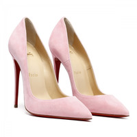 Christian Louboutin So Kate Pink Suede Pumps
