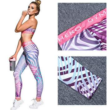 Running Tights Women Sports Trouser Fitness Running Pants Leopard Printed Workout Sports Tights Women Clothes Drop Shipping