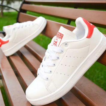 """Stan smith"" Running Sport Casual Shoes Women Men Sneakers shoes Red"