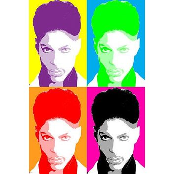 celebrity singer PRINCE MULTIPLE IMAGE POP ART POSTER 24X36 sexy ART new