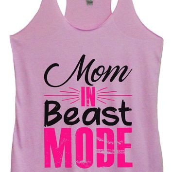 Womens Tri-Blend Tank Top - Mom IN Beast MODE