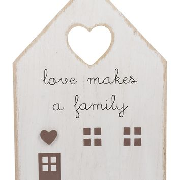 Love Makes a Family - Wall Plaque