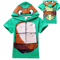 Teenage Mutant Ninja Turtles Clothes 3Y-8Y Baby Kids Boys Tops T-Shirt Hoodies