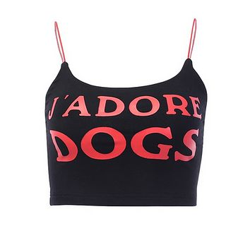 dog printed crop top tshirt summer top tg