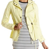 Drawstring Hooded Anorak Jacket by Charlotte Russe