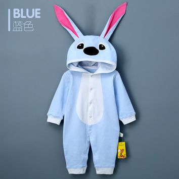 2018 Baby Toddlers Rompers Clothes Cotton Rabbit Infant Jumpsuit Bunny Shirt Outwear Baby Boys Girls Jumpsuits Clothing Costumes