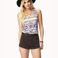 Tribal Print Burnout Tank | FOREVER 21 - 2054566883