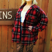 vintage oversized slouchy lumberjack flannel big shirt. extra large soft flannel work shirt