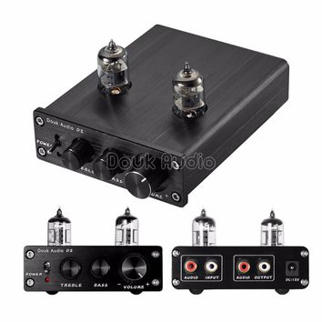 2017 Lastest Nobsound HiFi 6J1 Vacuum Tube Amplifier Stereo Tube Preamp Digital With Treble&Bass Tone Control Free Shipping