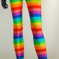 NEW Rainbow Stripe (((Rainbow Brite))) Leggings Spring 2012