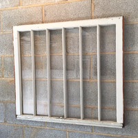 Vintage 6 Pane Window Frame - 31 x 36, White, Rustic, Antique, Wood, Wedding, Engagement, Home, Photos, Picture Frame, Holiday, Decor