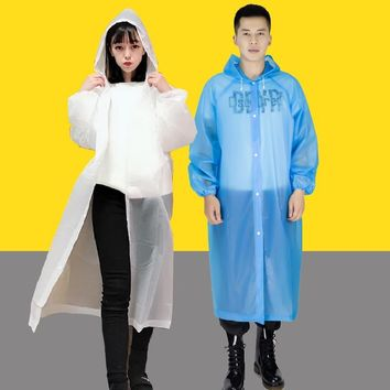 Transparent Raincoat Women Men Rainwear Male Rain Coat Waterproof Rain Cover Impermeable Motorcycle Raincoat Poncho Outdoor