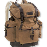 Waxed Cotton Continental Rucksack: Backpacks | Free Shipping at L.L.Bean