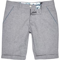 River Island MensGrey Vito rolled up shorts