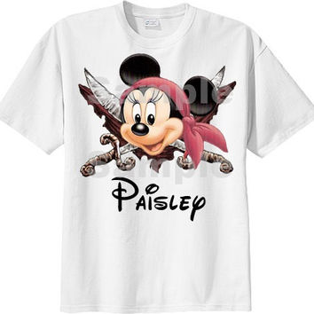 Personalized Disney Shirt , Family Disney Shirt , Disney Pirate T Shirt , Disney Pirate T Shirt , Minnie Mouse T Shirt