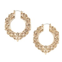 Filigree Hoop Earrings | Forever 21 - 1000221982