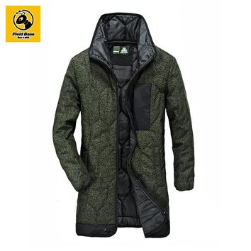 Field Base Mens Winter Parkas Jacket Men's Casual Hooded Jackets Coat Outerwear Windbreaker Sportswear Overcoat Parkas 64W60603A