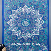 Indian Mandala Tapestries, Star Hippie Tapestries, Tapestry Wall Hanging, Boho Tapestry Throw, Bohemian Dorm Wall Tapestries, Wall Decor
