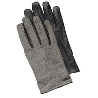 Sleek Leather Hybrid Gloves