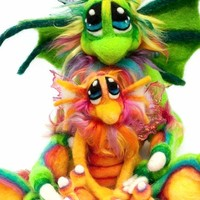 Made to Order OOAK Needle Felted Magical Dragon Wool Fiber Soft Sculpture Fantasy Plush Art Doll