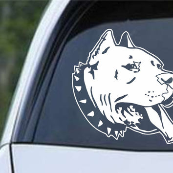 American Bully Pit Bull Dog Head Die Cut Vinyl Decal Sticker