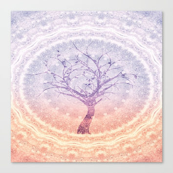 Tree Hugger Canvas Print by ALLY COXON