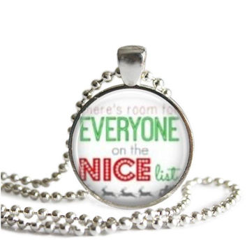 Buddy the Elf Silver Plated Picture Pendant Quote Necklace