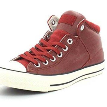 Converse Mens Chuck Taylor All Star Street Hi - Tumbled Leather Sneaker