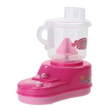 Mini Electric Juicer Machine Pretend Play Toy Kids Furniture Toys for Children Play House Toy Gift